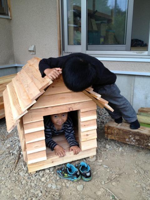 犬 小屋 自作
