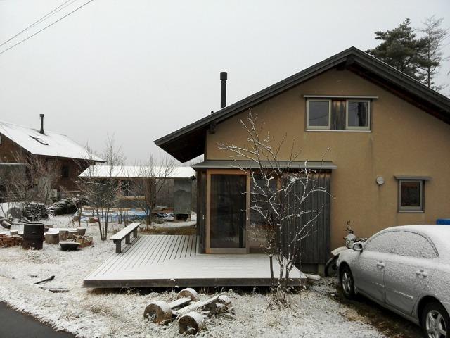 えんがわ村に雪