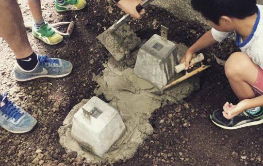 親子3世代で薪小屋と焚き火台作りDIY