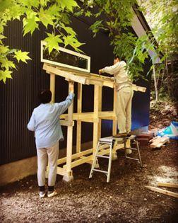 ツーバイフォー材で作る薪小屋作りDIY