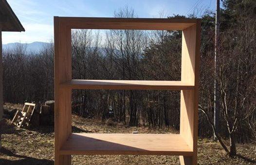 杉の無垢板で作る本棚