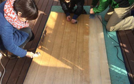タモ無垢材の木製建具をセルフメンテナンス