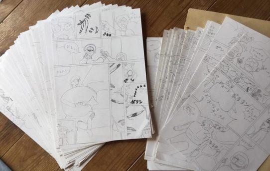 100時間漫画塾、締切り間近のラストスパート