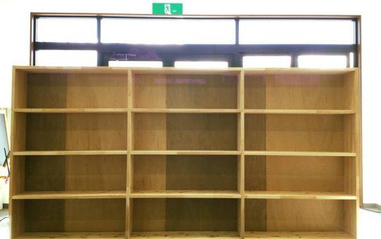塾アマノさんで参考書、問題集を収納する大容量本棚作り
