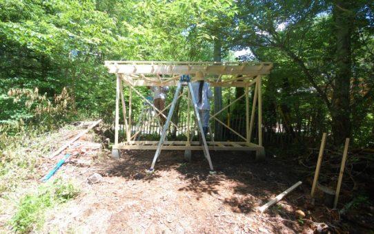 ツーバイフォーで作るオリジナルな道具小屋。