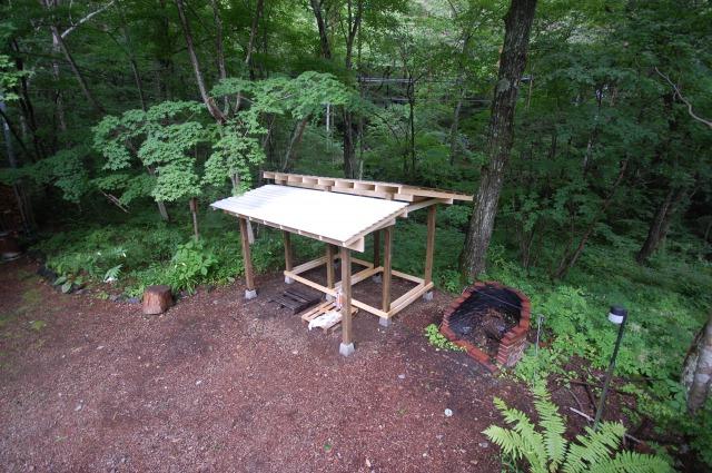 DIYを楽しむための自分仕様のスケルトン小屋フレーム。